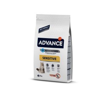 Advance Cat Adult Sensitive 3кг - сьомга и ориз