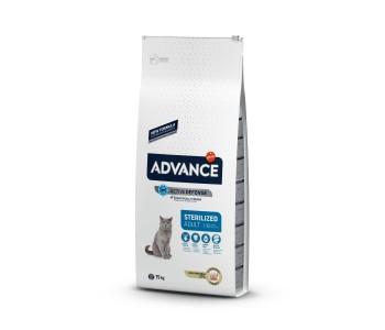 Advance Cat Adult Sterilized 15кг - пуешко и ечемик