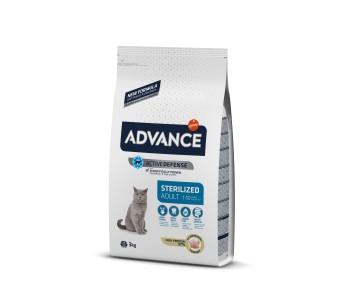 Advance Cat Adult Sterilized 3кг - пуешко и ечемик