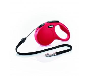 Автоматичен повод за кучета Flexi New Classic M въже 5 м/20 кг - червен