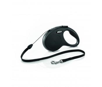 Автоматичен повод за кучета Flexi New Classic S въже 5 м/12 кг - черен