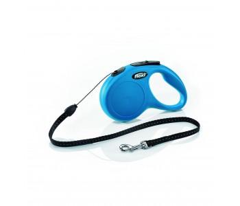 Автоматичен повод за кучета Flexi New Classic S въже 5 м/12 кг - син