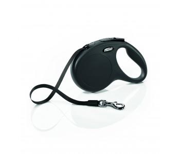 Автоматичен повод за кучета Flexi New Classic M лента 5 м/25 кг - черен