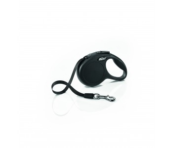 Автоматичен повод за кучета Flexi New Classic XS лента 3 м/12 кг - черен