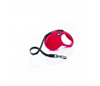 Автоматичен повод за кучета Flexi New Classic XS лента 3 м/12 кг - червен