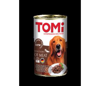 Tomi консерва за куче 1200г - 5 вида месо