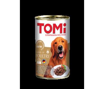 Tomi консерва за куче 1200г - 3 вида птиче месо